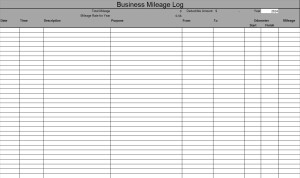Small business excel templates business mileage log excel template flashek Image collections