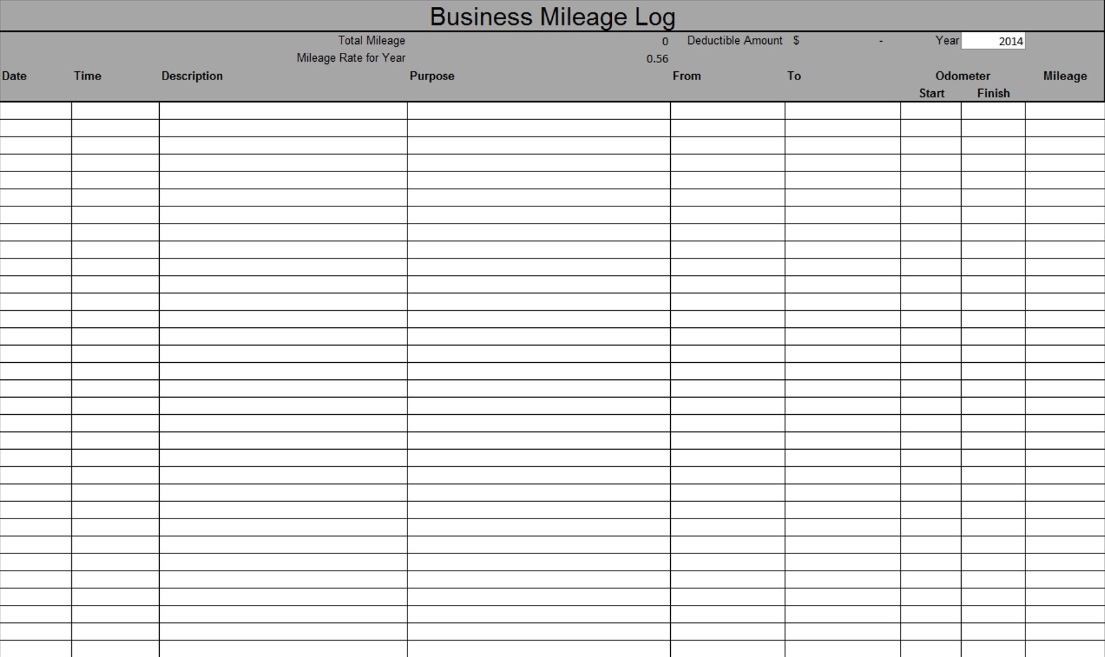 Business Mileage Log - Virgin Consulting